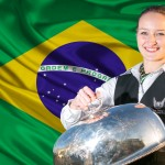 Alina and Brazilian Flag